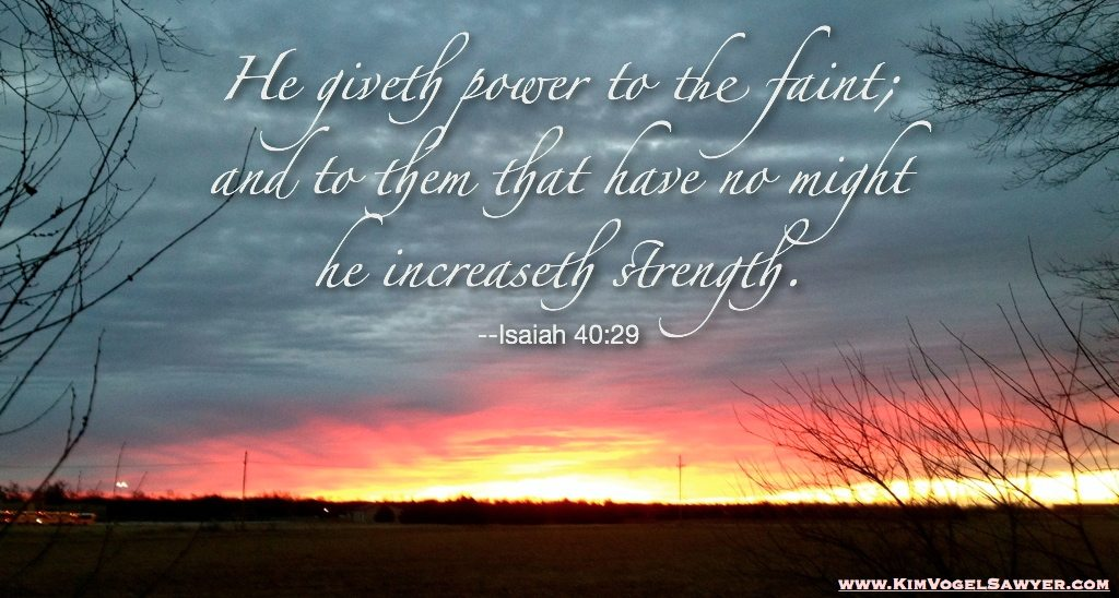 His strength